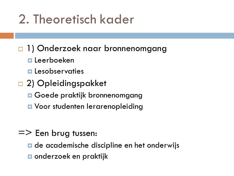 2. Theoretisch kader => Een brug tussen: