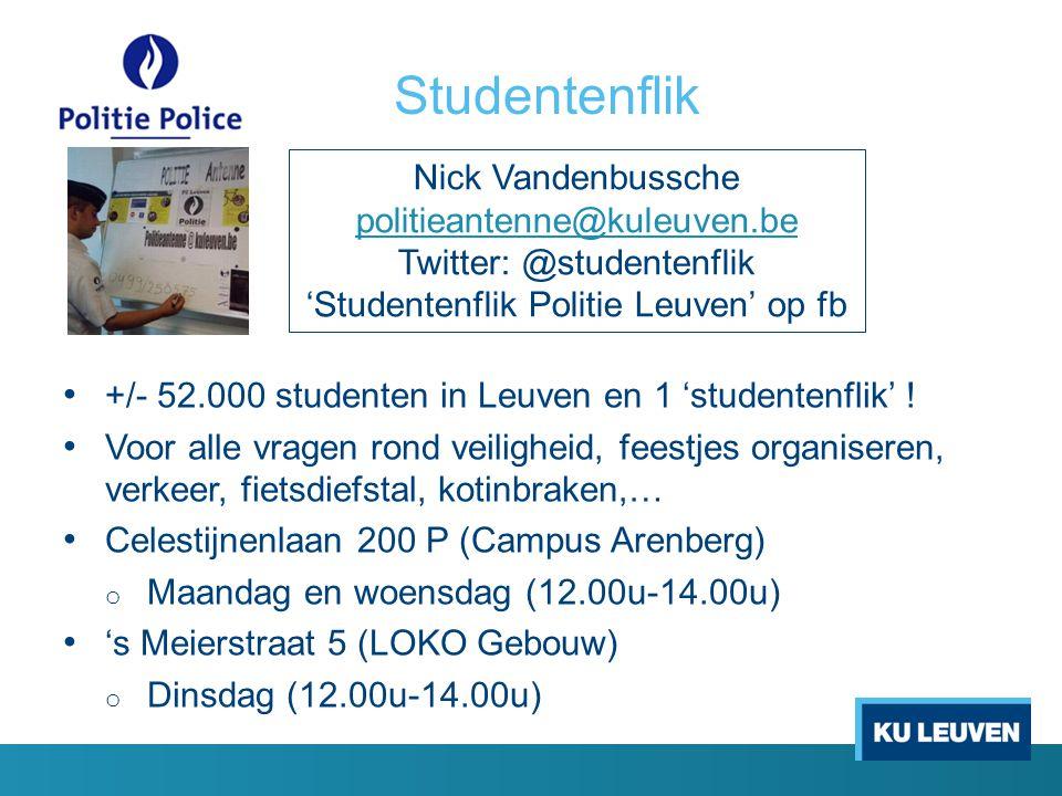 Studentenflik Nick Vandenbussche politieantenne@kuleuven.be