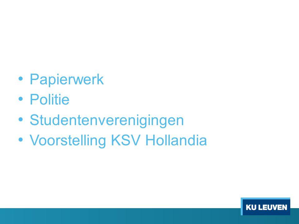 Papierwerk Politie Studentenverenigingen Voorstelling KSV Hollandia