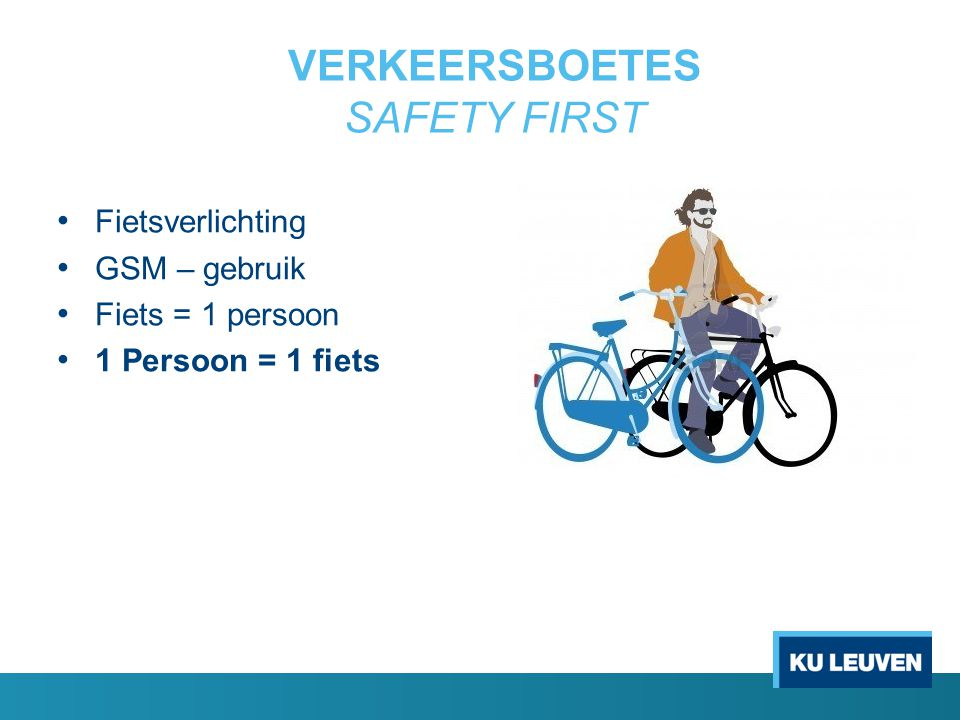 VERKEERSBOETES SAFETY FIRST