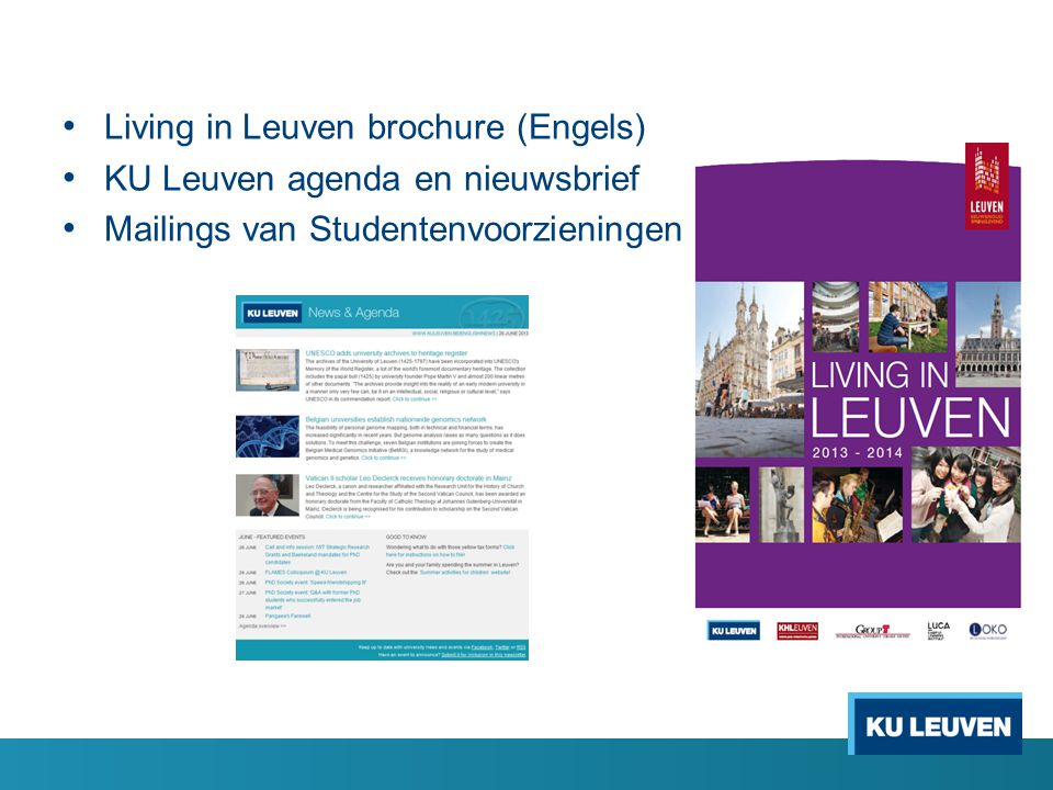 Living in Leuven brochure (Engels)