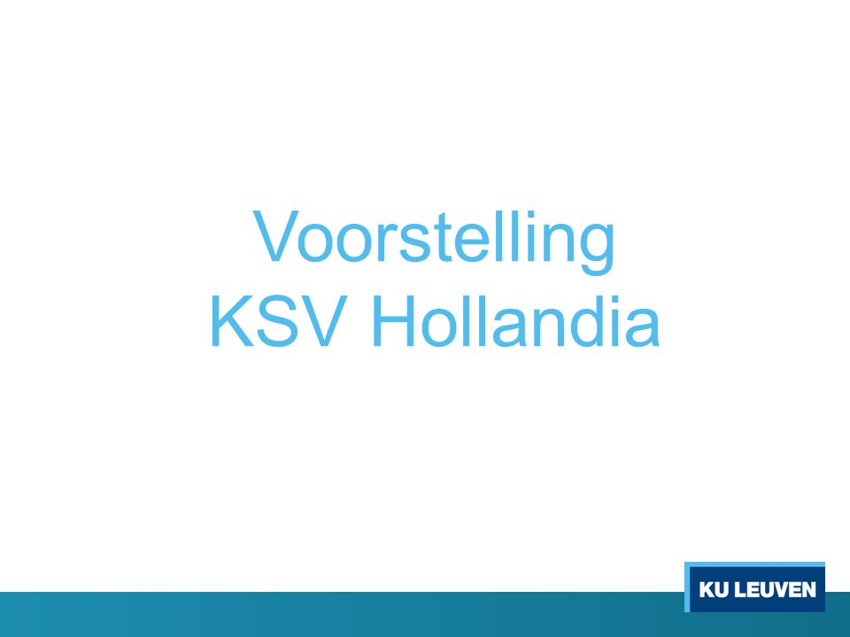 Voorstelling KSV Hollandia