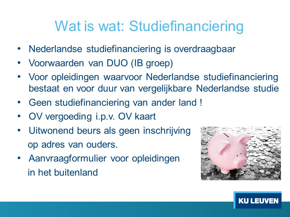Wat is wat: Studiefinanciering