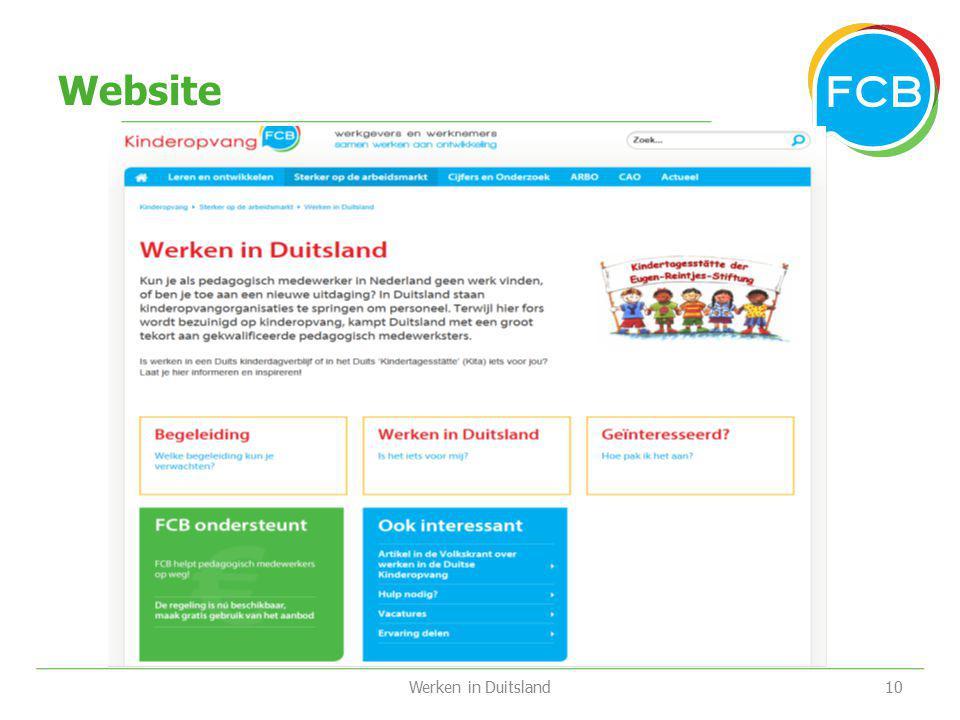 Website Werken in Duitsland
