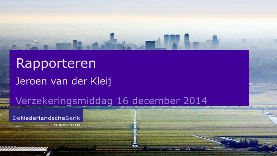 Jeroen van der Kleij Verzekeringsmiddag 16 december 2014