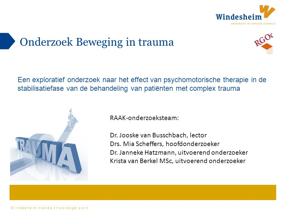 Onderzoek Beweging in trauma