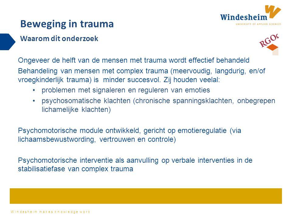 Beweging in trauma Waarom dit onderzoek