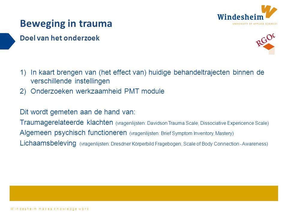 Beweging in trauma Doel van het onderzoek