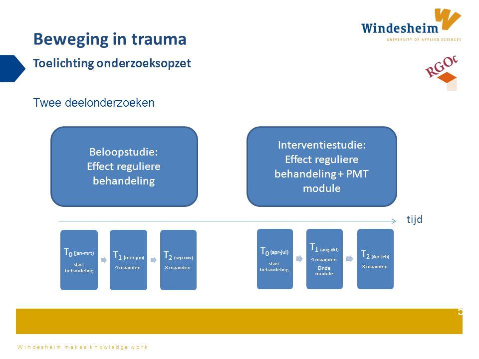 Beweging in trauma Toelichting onderzoeksopzet Twee deelonderzoeken