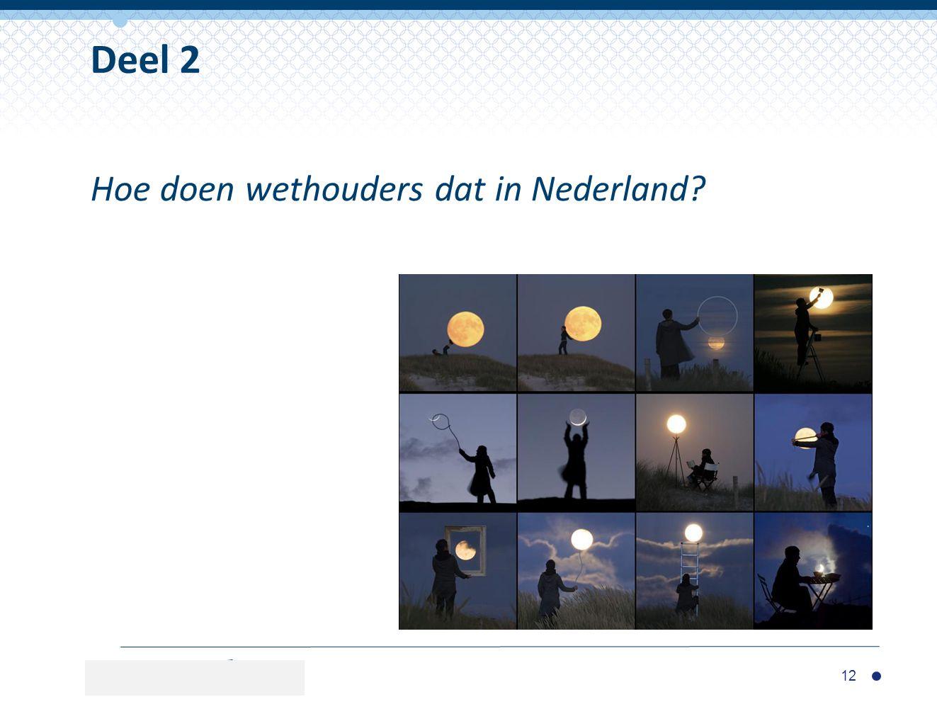 Deel 2 Hoe doen wethouders dat in Nederland