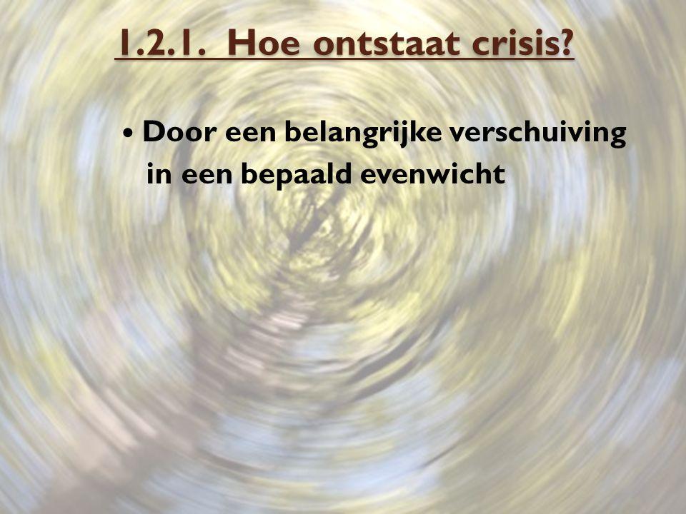 1.2.1. Hoe ontstaat crisis Door een belangrijke verschuiving