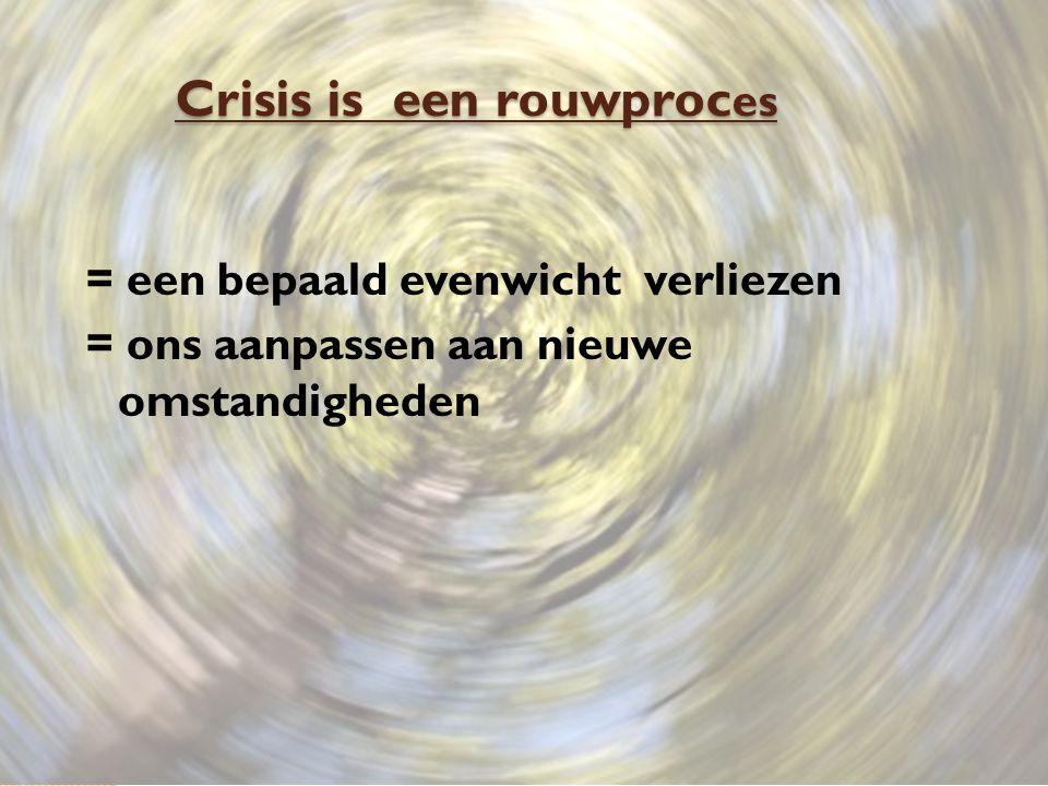 Crisis is een rouwproces