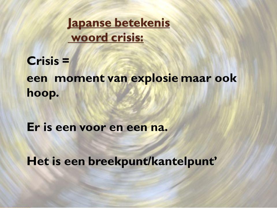 Japanse betekenis woord crisis: