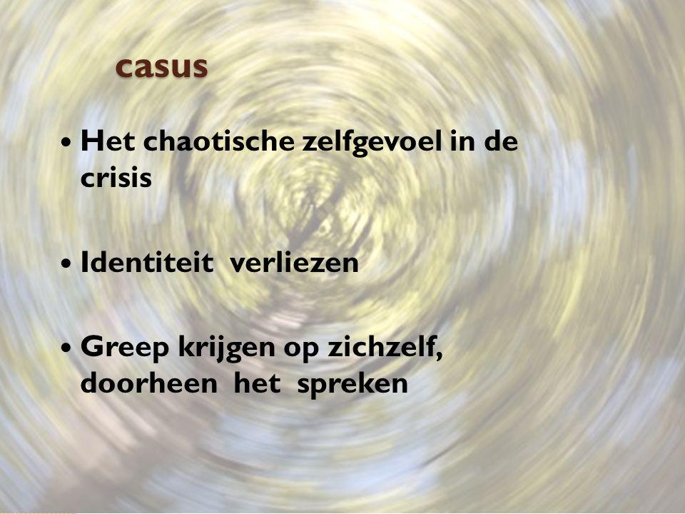 casus Het chaotische zelfgevoel in de crisis Identiteit verliezen