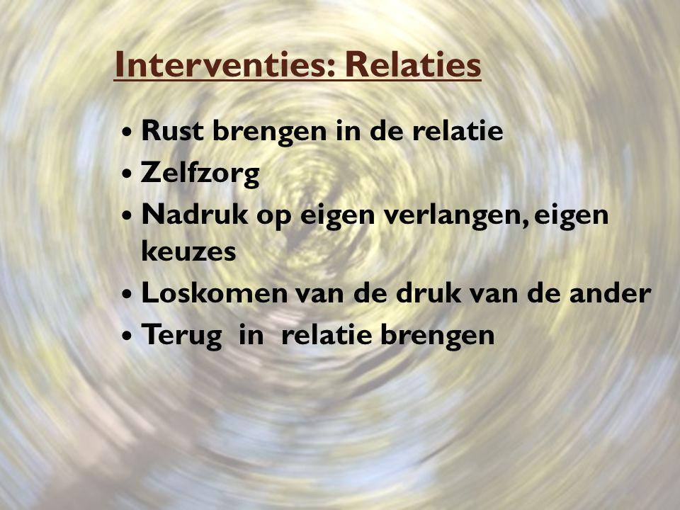 Interventies: Relaties