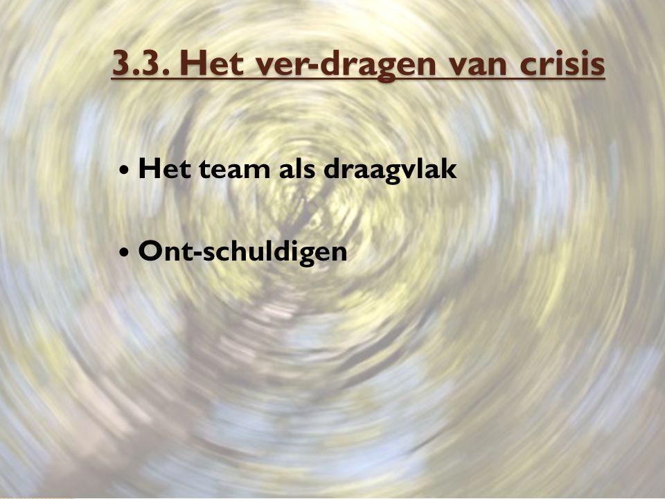 3.3. Het ver-dragen van crisis