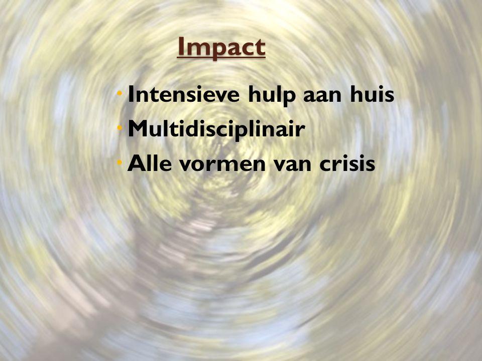 Impact Intensieve hulp aan huis Multidisciplinair