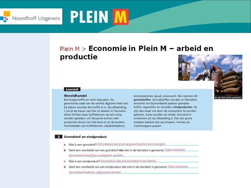 Plein M > Economie in Plein M – arbeid en productie