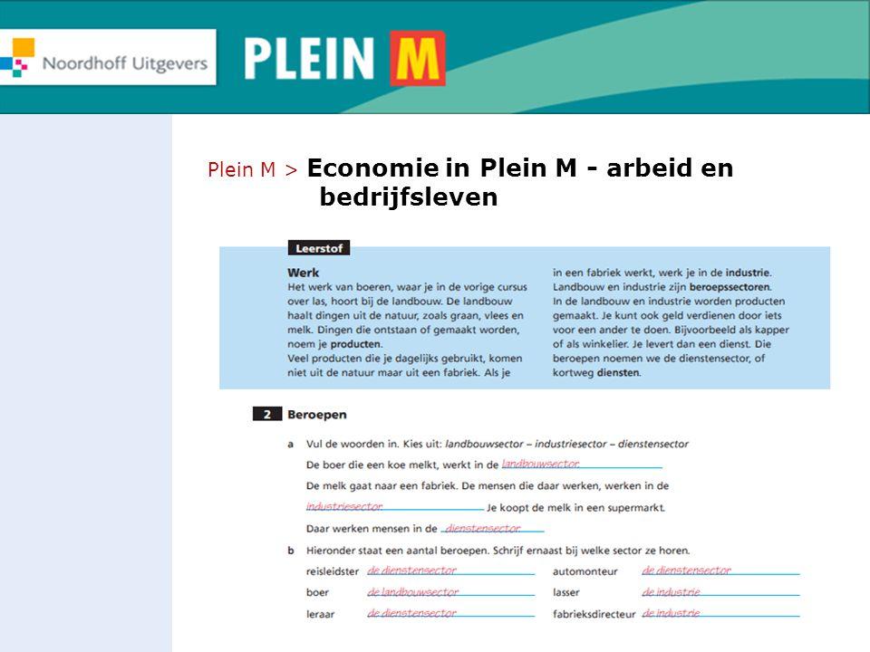 Plein M > Economie in Plein M - arbeid en bedrijfsleven