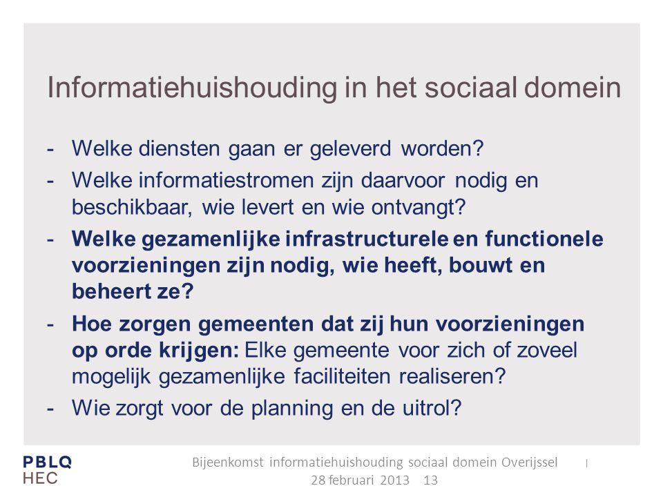 Informatiehuishouding in het sociaal domein