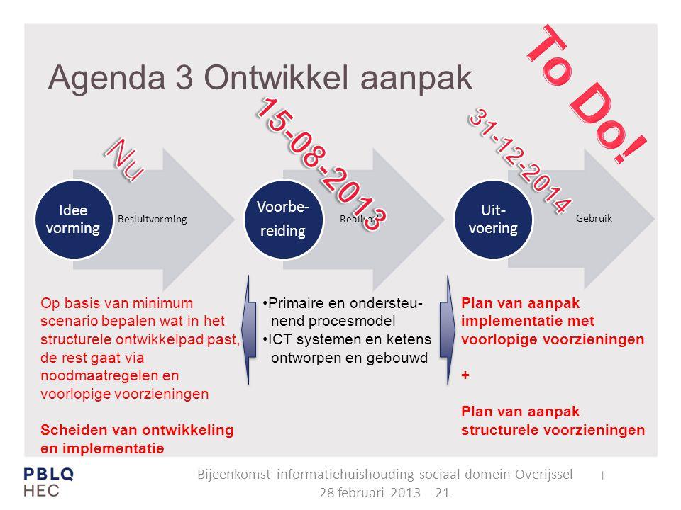 Agenda 3 Ontwikkel aanpak