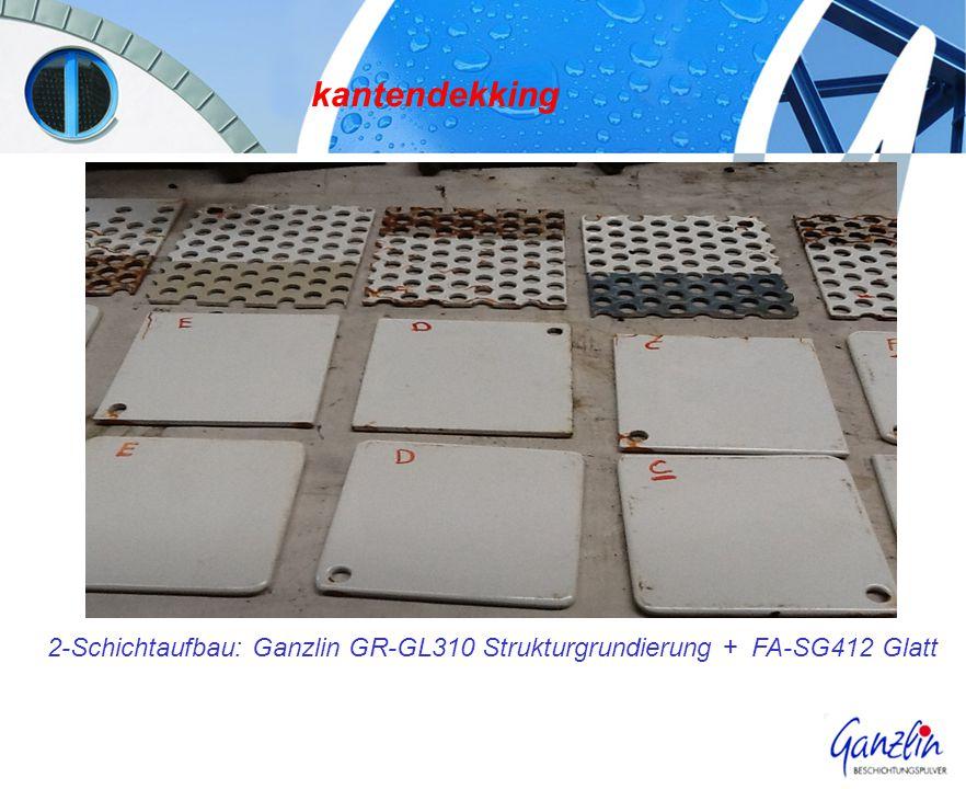 kantendekking 2-Schichtaufbau: Ganzlin GR-GL310 Strukturgrundierung + FA-SG412 Glatt