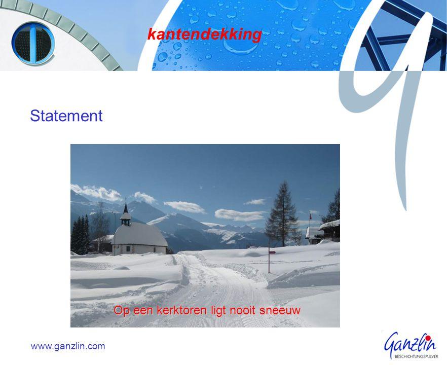 kantendekking Statement Op een kerktoren ligt nooit sneeuw