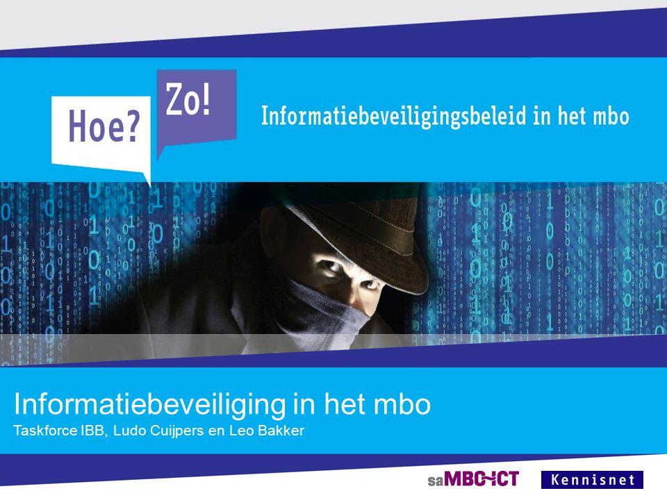 Informatiebeveiliging in het mbo Taskforce IBB, Ludo Cuijpers en Leo Bakker