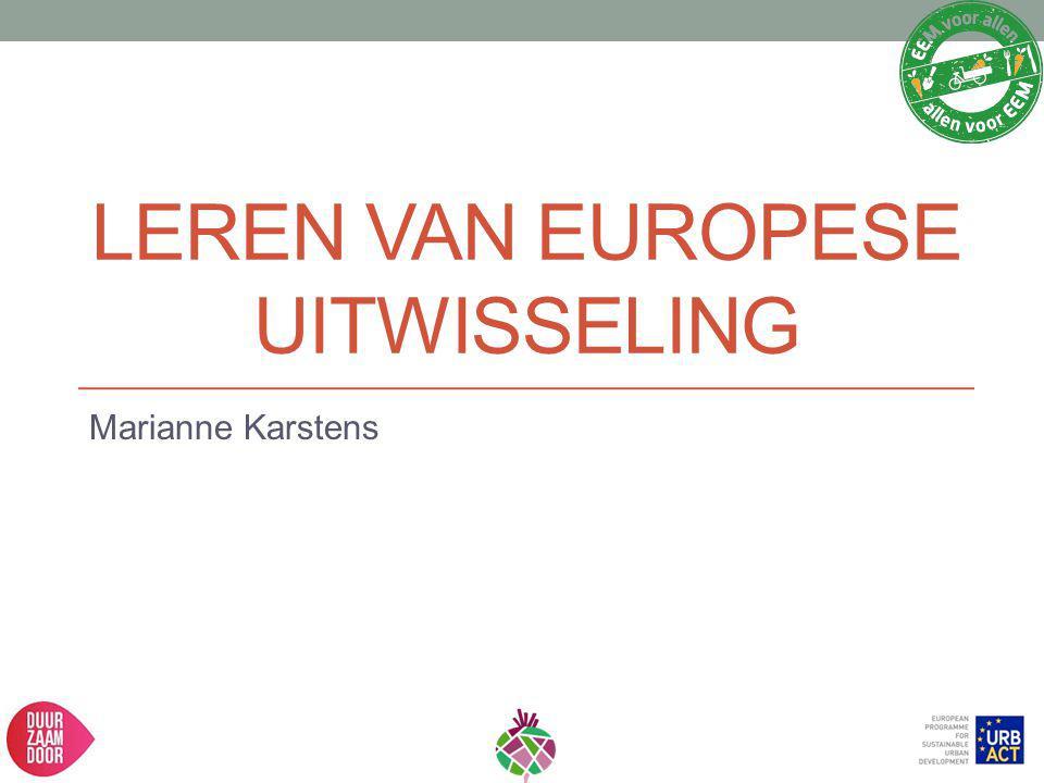 Leren van europese uitwisseling