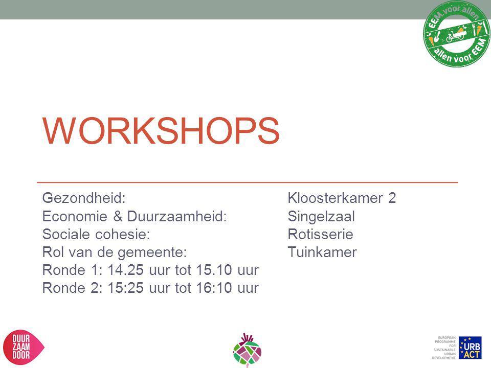Workshops Gezondheid: Kloosterkamer 2