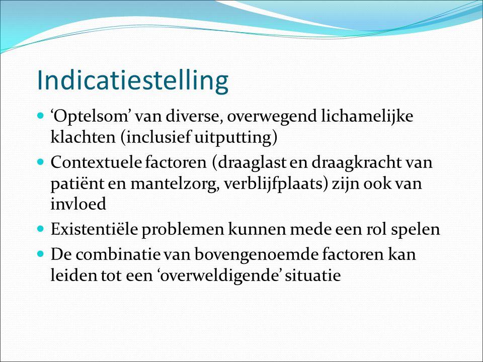 Indicatiestelling 'Optelsom' van diverse, overwegend lichamelijke klachten (inclusief uitputting)