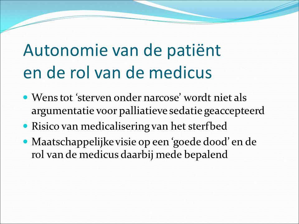 Autonomie van de patiënt en de rol van de medicus