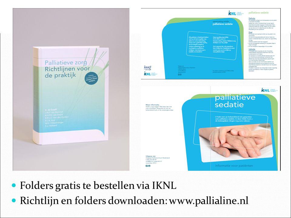 Folders gratis te bestellen via IKNL