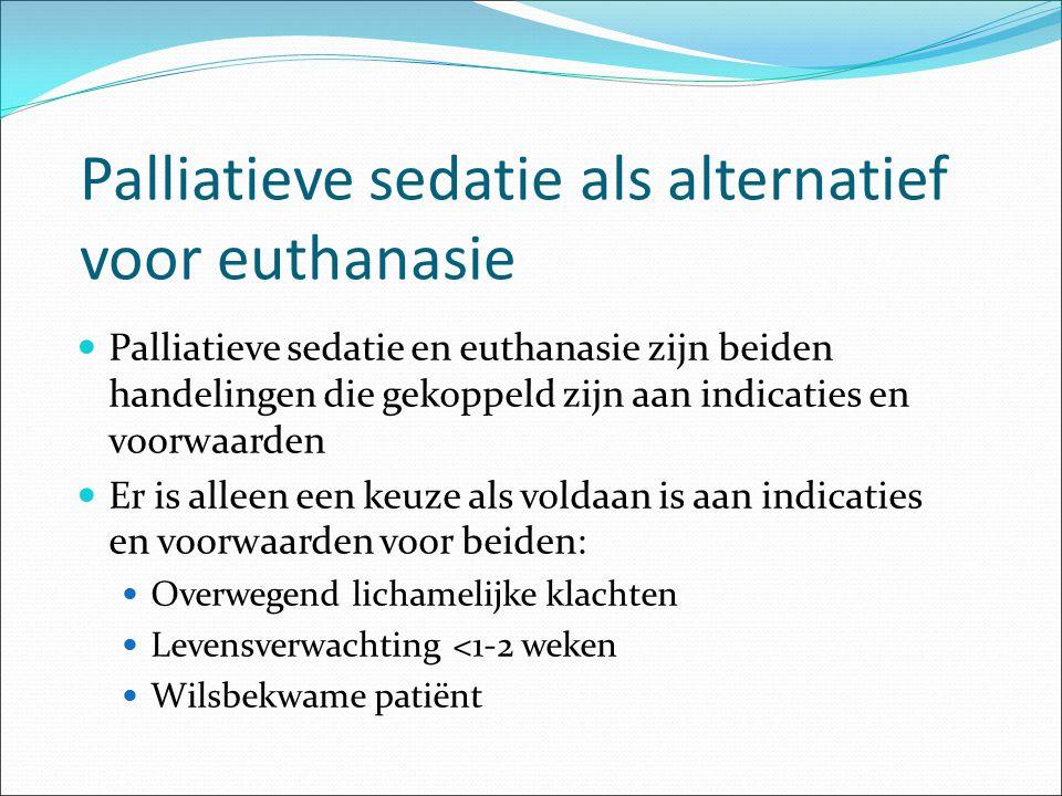 Palliatieve sedatie als alternatief voor euthanasie