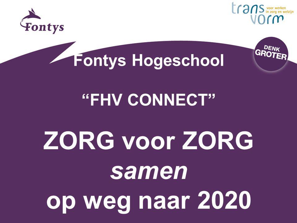 Fontys Hogeschool FHV CONNECT ZORG voor ZORG samen op weg naar 2020