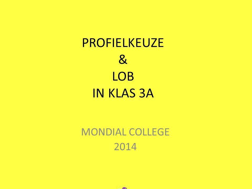 PROFIELKEUZE & LOB IN KLAS 3A