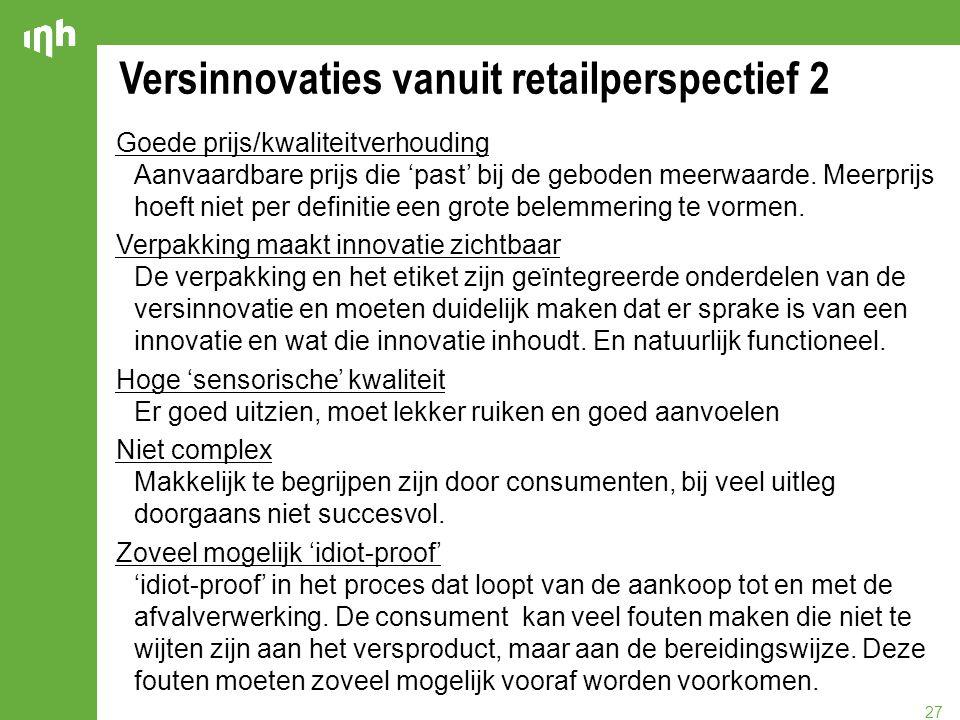 Versinnovaties vanuit retailperspectief 2