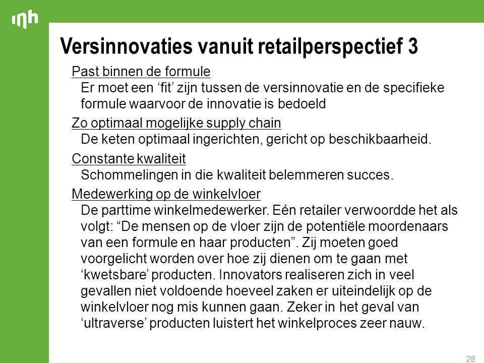 Versinnovaties vanuit retailperspectief 3