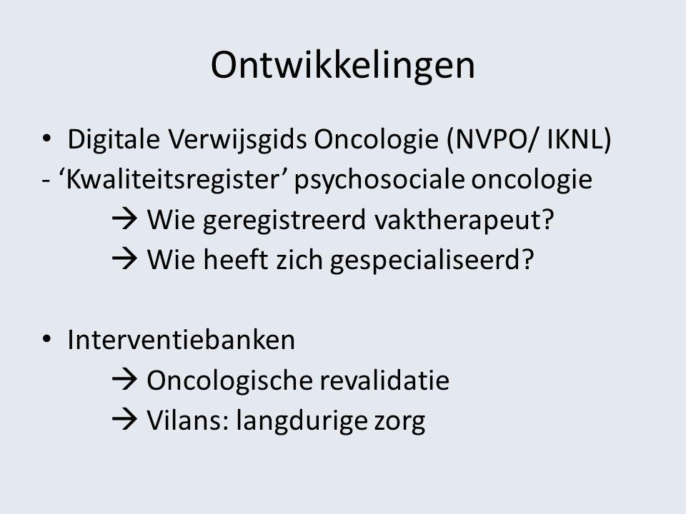 Ontwikkelingen Digitale Verwijsgids Oncologie (NVPO/ IKNL)