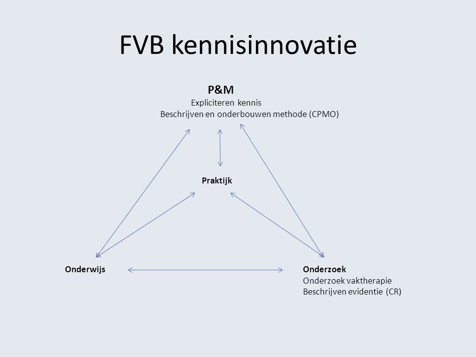 FVB kennisinnovatie Expliciteren kennis