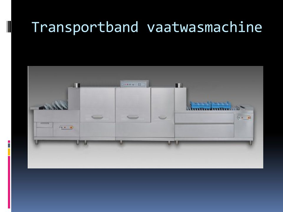 Transportband vaatwasmachine