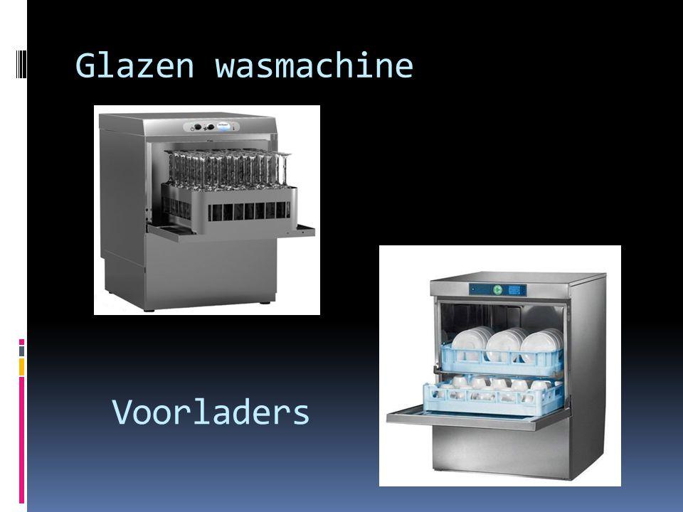 Glazen wasmachine Voorladers