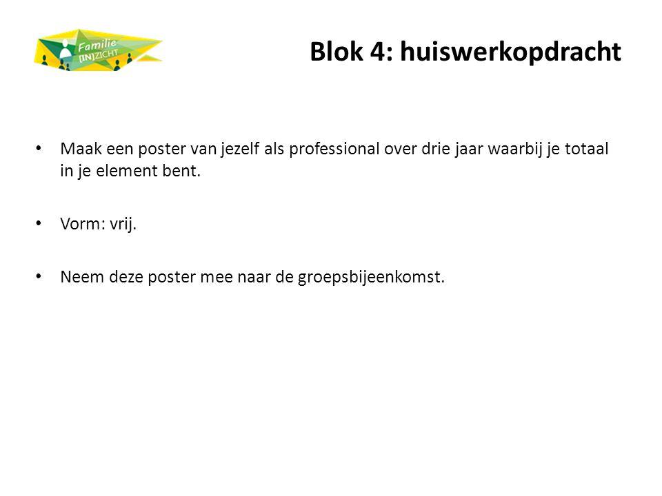 Blok 4: huiswerkopdracht