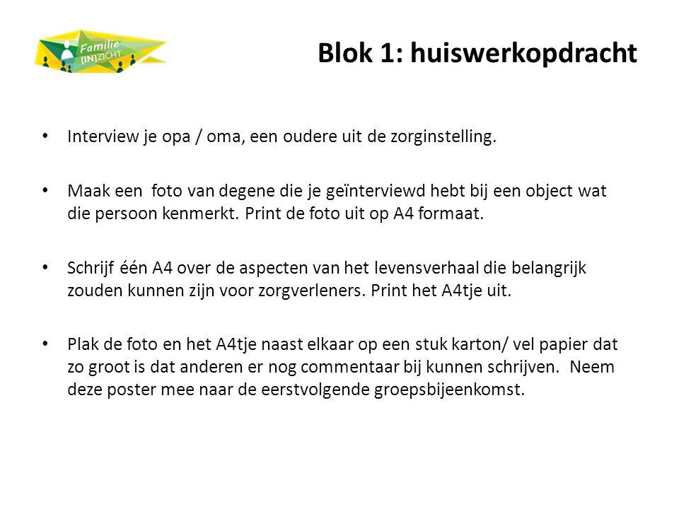 Blok 1: huiswerkopdracht