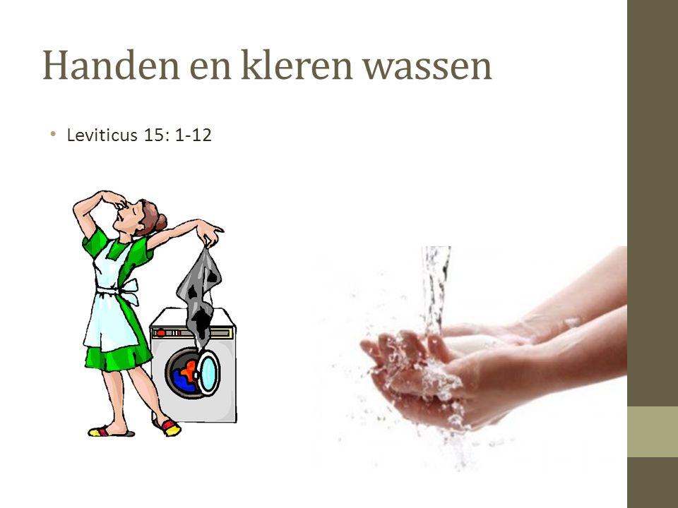 Handen en kleren wassen