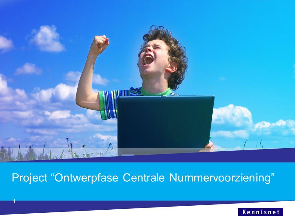 Project Ontwerpfase Centrale Nummervoorziening