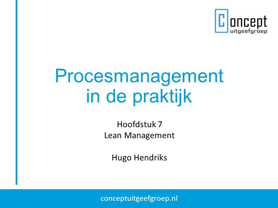Procesmanagement in de praktijk Hoofdstuk 7 Lean Management