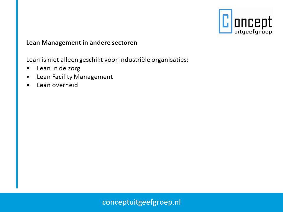 Lean Management in andere sectoren