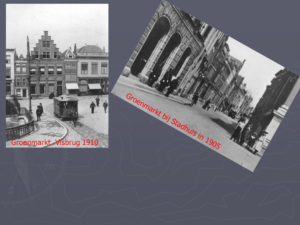 Groenmarkt bij Stadhuis in 1905