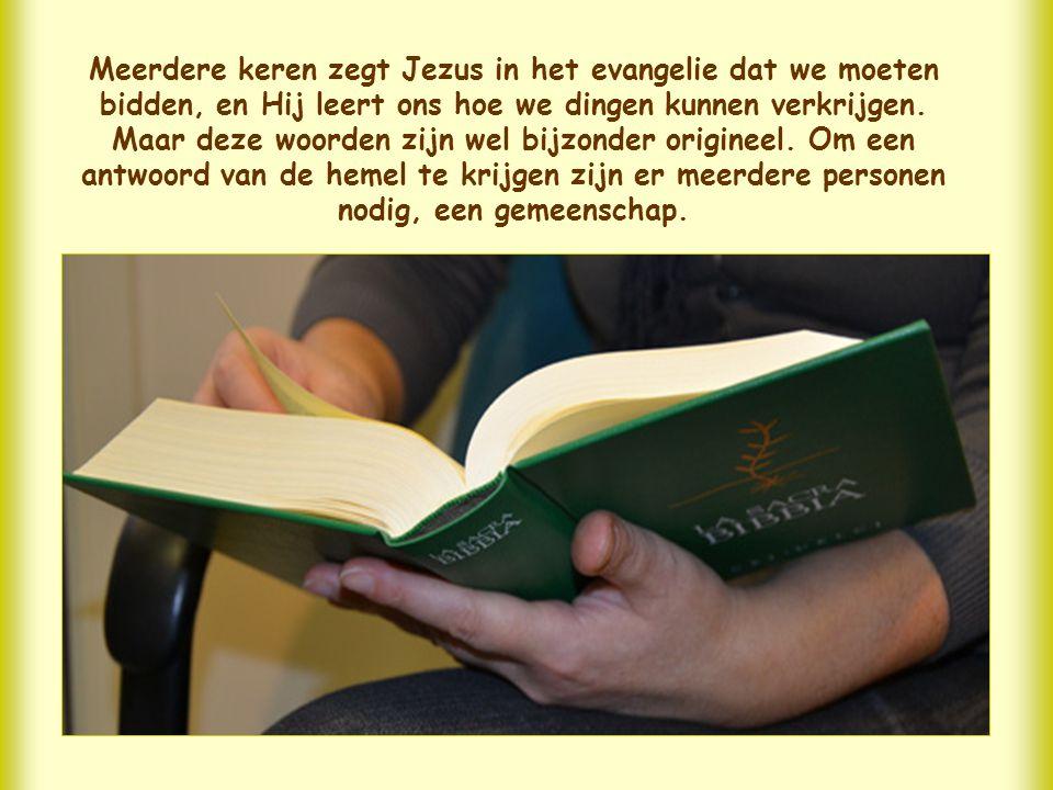 Meerdere keren zegt Jezus in het evangelie dat we moeten bidden, en Hij leert ons hoe we dingen kunnen verkrijgen.